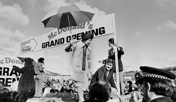 PROPERTY HISTORY: The grand opening of the Cobham Court McDonald's in 1976.