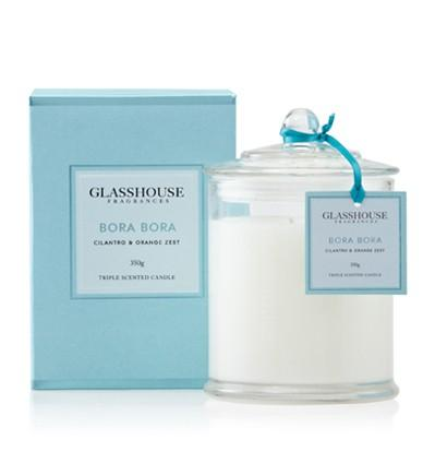 """GLASSHOUSE CANDLE BORA BORA, RRP$24.90: Winter is the perfect time to light up a candle – with all the doors and windows closed it helps to trap the scent in. Here's a tip - fill up the bath and let your mind escape to somewhere warm (well, it's the best we can do for now). Sold at <a target=""""_blank"""" href=""""http://www.peteralexander.co.nz/shop/en/peteralexandernz/glasshouse-fragrances-triple-scented-miniture-candles-60g?colour=BoraBora""""> Peter Alexander,</a><a target=""""_blank"""" href=""""http://www.redcurrent.co.nz/glasshouse-triple-scented-candle.html""""> Red Current,</a> and other homeware stores."""