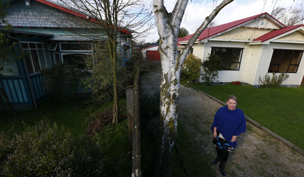 FED UP: Jo Byrne and her family moved out of their Carrick St home after the March floods and have just been told they do not meet the Earthquake Commission's criteria for increased flooding vulnerability.