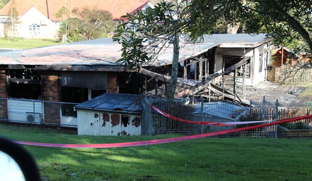 Paeroa kindergarten destroyed by fire
