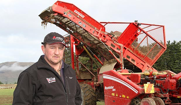 Kaweku farmer Mark Dillon loves his fodder beet lifter – a Grimme Rootster,  which can lift about a tonne of fodder beet an hour.