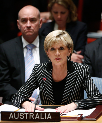 ACTION NEEDED: Australia's Foreign Minister Julie Bishop speaks to members of the Security Council about the MH17 crash.