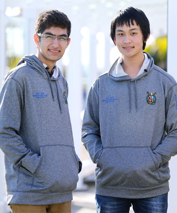 dd62678aa YOUNG LEADERS: Vanshay Bindra, left, and Andrew Xiao, both 16, have