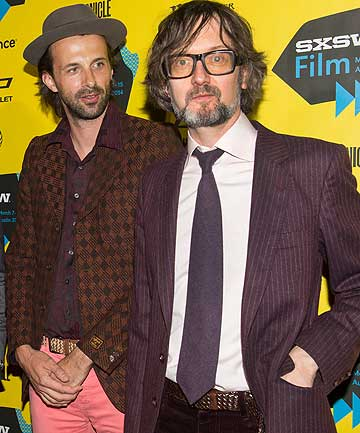 FILM-MAKER AND HIS SUBJECT: Florian Habicht and Jarvis Cocker on the red carpet.