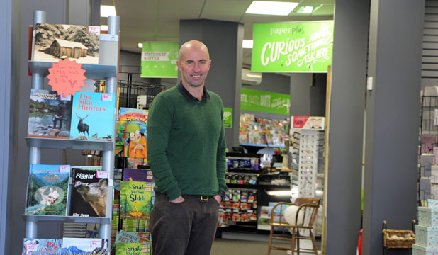 NEW NAME: Cambridge bookseller Hamish Wright turned his independent store into a Paper Plus franchise.