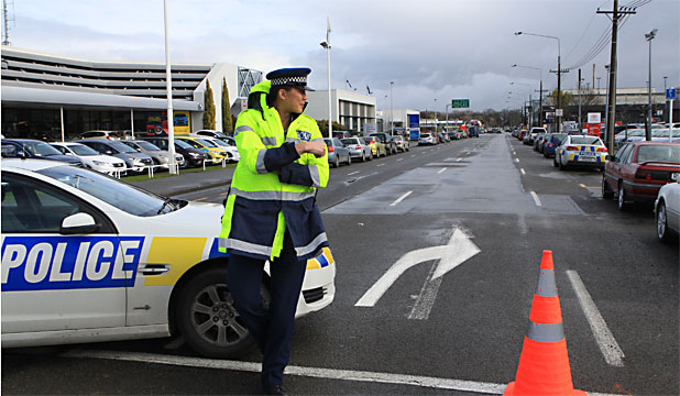 Christchurch police station evacuated