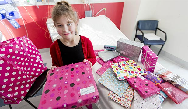 BIRTHDAY WISH: Lucy-Boo Pearn donated all of her birthday presents to the children's ward at the Palmerston North Hospital.
