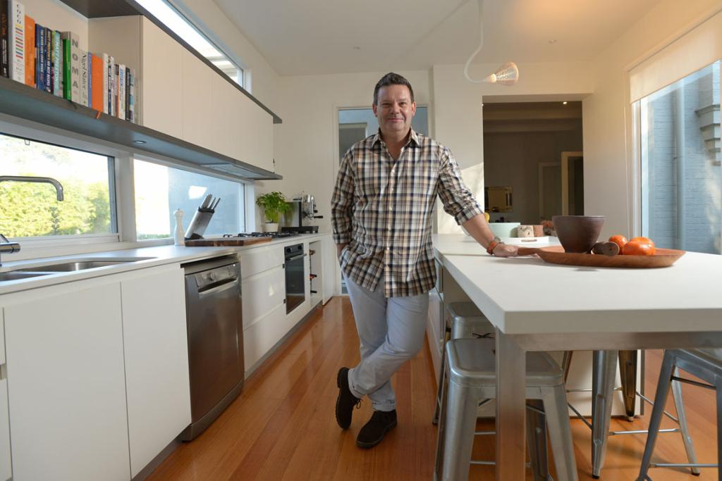 HIS SPACE: Restaurateur, MasterChef judge and author Gary Mehigan in his home kitchen.