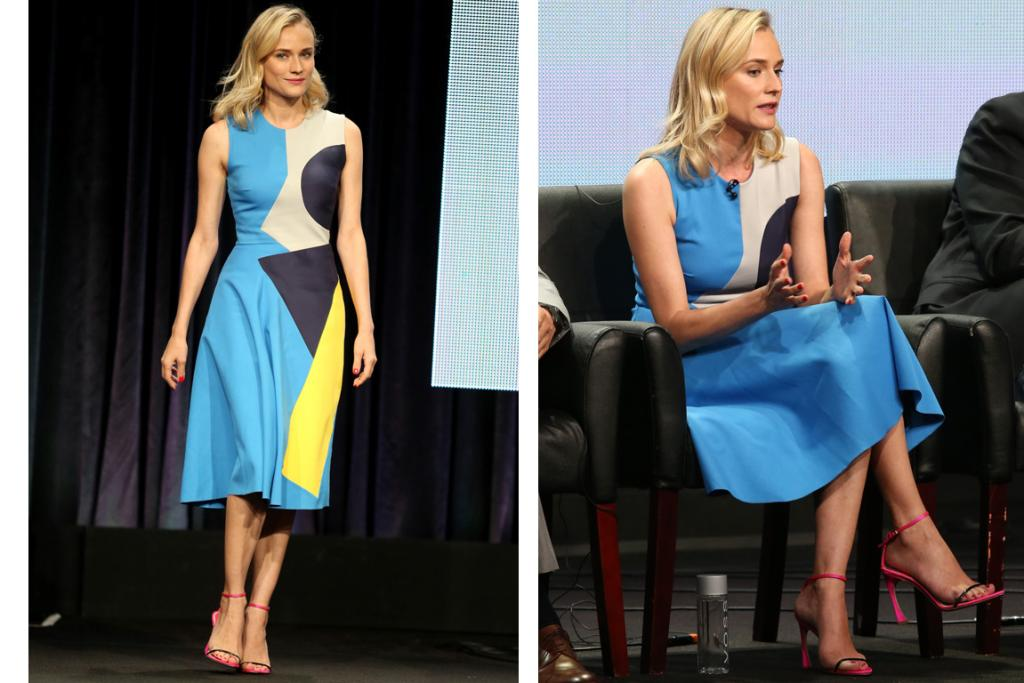 THE GOOD: Diane Kruger's personal style is A-grade righteous, and she can pull off a geometric Roksanda Ilincic while still looking effortless and breezy like almost no other human could. Love. Oh, and in a total Kruger move she chose hot pink Dior sandals to accompany her tri-colour dress. Most actresses would just choose a nude pump, but not our Kruge.