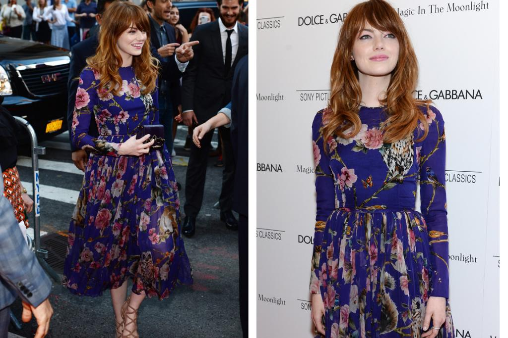 THE GOOD: The boys behind Dolce & Gabbana love a floral print, and this is one of their best yet: Emma Stone looks feminine yet not stuffy in this D&G look. Some criticised this whole ensemble for ageing the 25-year-old, but I think it's cut beautifully and is certified fresh.