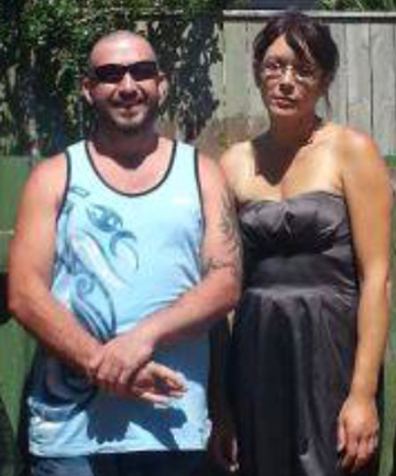 NO GOODBYE: AJ Ihaka, who died in a car accident in Eketahuna, pictured with long-time partner Lisa Lutherus.
