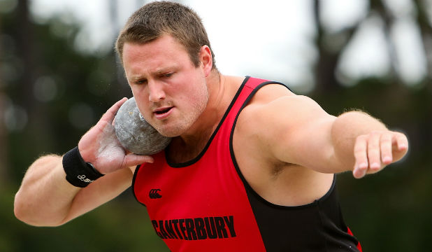 MEDAL HOPE: Kiwi Tom Walsh threw 21.23m in Glasgow in July, further than anyone else in the field this year.