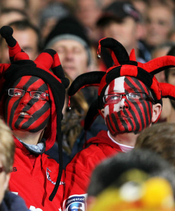 LOYAL SUPPORT: The Crusaders had been expecting a full-house at AMI Stadium for tomorrow's Super Rugby semifinal.