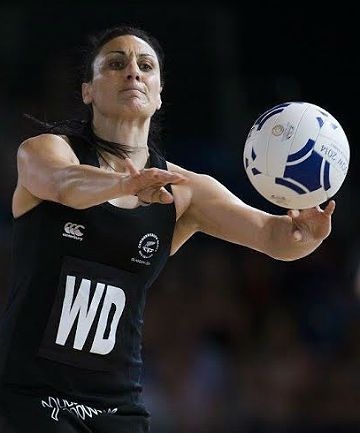 ONLY JUST: Joline Henry of the Silver Ferns gets a pass away against Malawi but the team rode their luck big time.