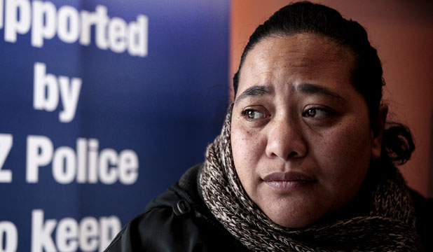 """PLEASE HELP US FIND HIM'': Peter Talalelei's daughter, Ruth Talalelei, has flown from Australia to join the search."