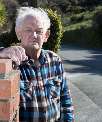 CALL FOR ACTION: Beatson Rd resident Ron Guyton: ''Something has to be done''.