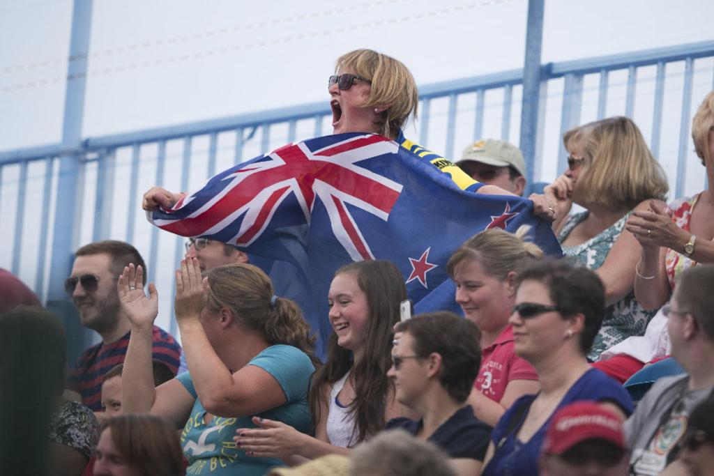 A Black Sticks fan shows off her New Zealand spirit.