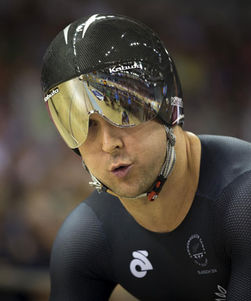 NEED FOR SPEED: Track cyclist Simon van Velthooven, pictured, and Matt Archibald have won silver and bronze respectively in the final of the 1000m time trial.