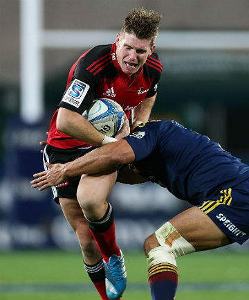 HARD LUCK: Despite keeping Dan Carter out of the Crusaders No 10 jumper, Colin Slade is likely to miss out on the All Blacks squad for the Rugby Championship.