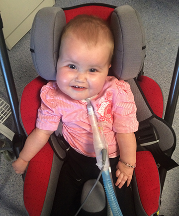 RARE CONDITION: Amelia Drummond, 1, is  one of only two people with spinal muscular atrophy with respiratory distress (SMARD) in Australasia.