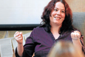 LOCAL TALENT: Marlborough young adult author Karen Healey was a highlight at the Marlborough Book Festival during the weekend.