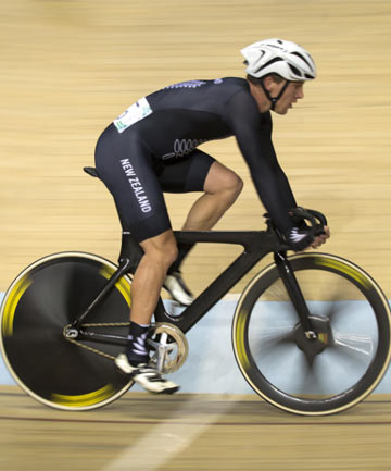 GOLDEN GUY: Shane Archbold earned New Zealand's fourth gold medal and 10th total medal at the Sir Chris Hoy velodrome, winning the 20km scratch race.