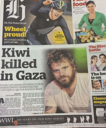 ERROR: The Herald's frontpage featuring the photo of Jackass star Ryan Dunn.