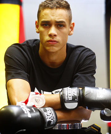 PACKING A PUNCH: Boxer David Nyika is through to the quarterfinals of the Commonwealth Games in Glasgow after a dominant victory over hometown hero Scott Forrest.