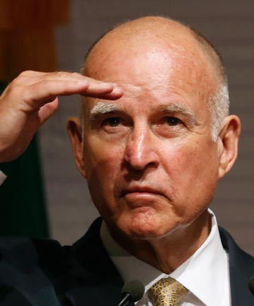 HOPING FOR WISER MINDS: California Governor Jerry Brown.
