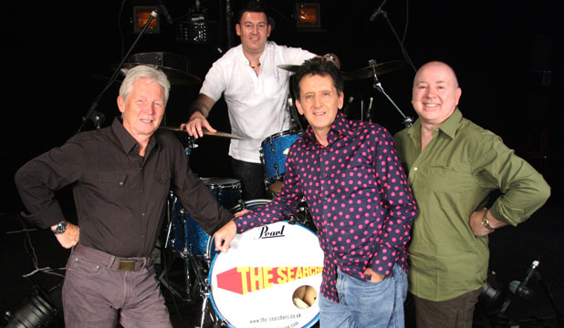 IN THE ROOM: The Searchers today, from left, John McNally, Scott Ottaway, Frank Allen and Spencer James.