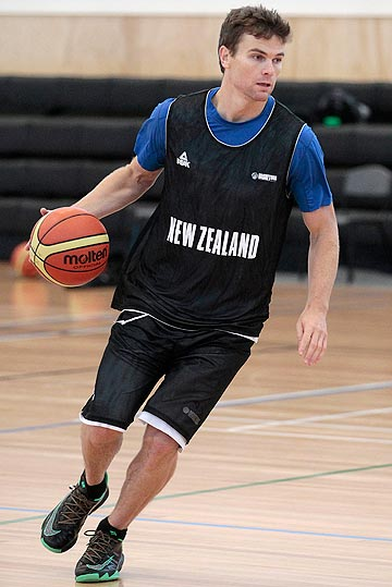 TOP GUN: Tall Blacks star Kirk Penney trains at St Pat's Silverstream yesterday.