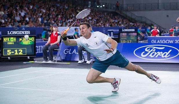 GAMES FIT: 52-year-old Michael Donohoe is competing in badminton for Norfolk Island at the Commonwealth Games.