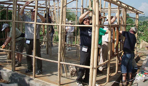 NEPAL STYLE: Conrad LaPointe says volunteers will work on bamboo-framed, earthen brick houses in Chinwan Province.