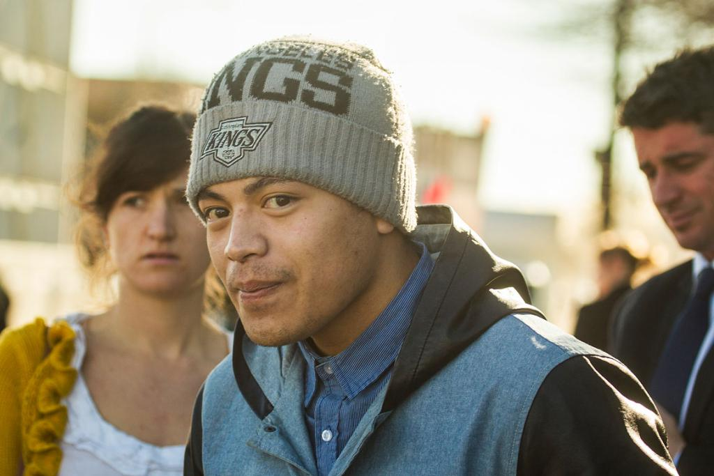 Sina Solomona's brother Richard Ioapo outside the Christchurch High Court.