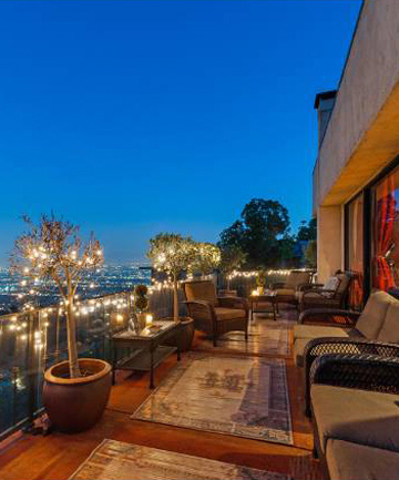 NOT A BAD SPOT: The pad has stunning views over the canyon towards LA.