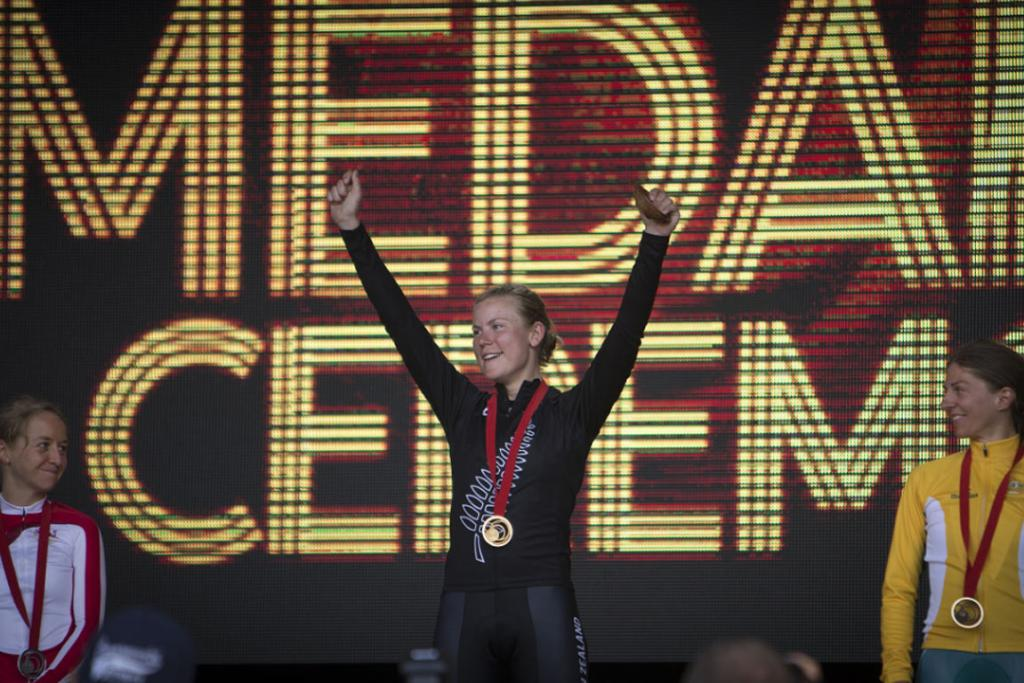 After a run of minor medals at major championships, Linda Villumsen finally got her gold medal in the women's time trial.
