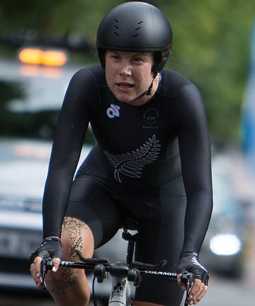 KIWI GOLD: Linda Villumsen won the women's road cycling time trial.