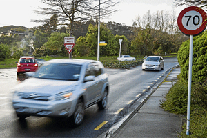GO SLOW: The Nelson City Council may reduce the speed limit on the Bishopdale Hill section of Waimea Rd to 50kmh, to improve safety at the intersection with The Ridgeway.