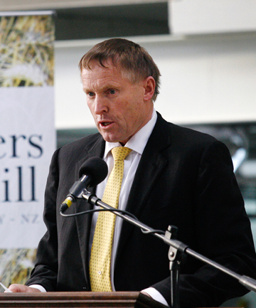UPWARDLY MOBILE: Farmers Mill chairman Murray Turley at the flour mill's opening in 2013.