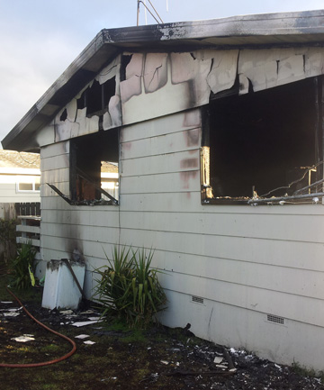 Gutted house in Waikato