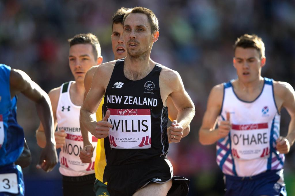 Champion Kiwi runner Nick Willis on his way to qualifying for the men's 1500m final.