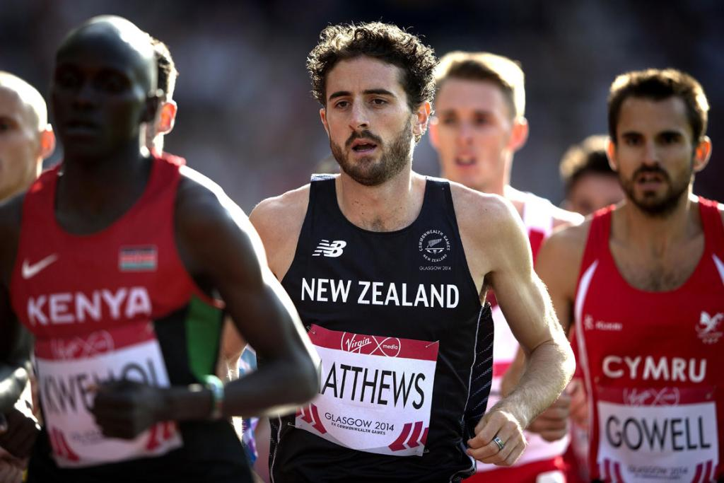 Relatively unknown Kiwi runner Julian Matthews on his way to qualifying for the men's 1500m final.