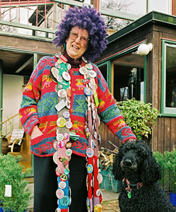 UNLIMITED IMAGINATION: Margaret Mahy loved reading to children, usually wearing one of her colourful trademark wigs.