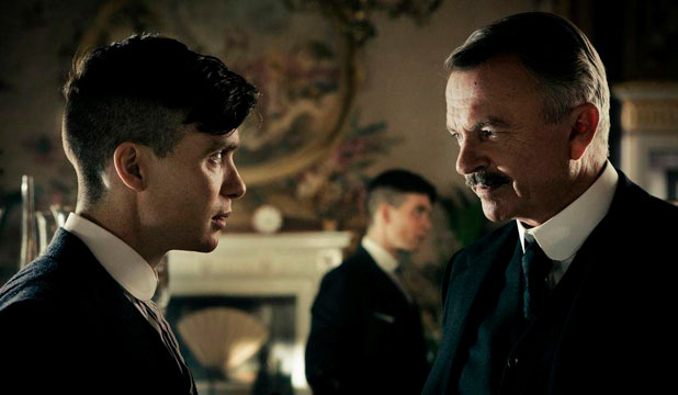 Cillian Murphy and Sam Neill in Peaky Blinders
