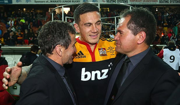 REUNITED: Sonny Bill Williams' return to the Chiefs is good news for coaches Dave Rennie, right, and Wayne Smith.
