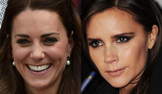 The Duchess of Cambridge and Victoria Beckham