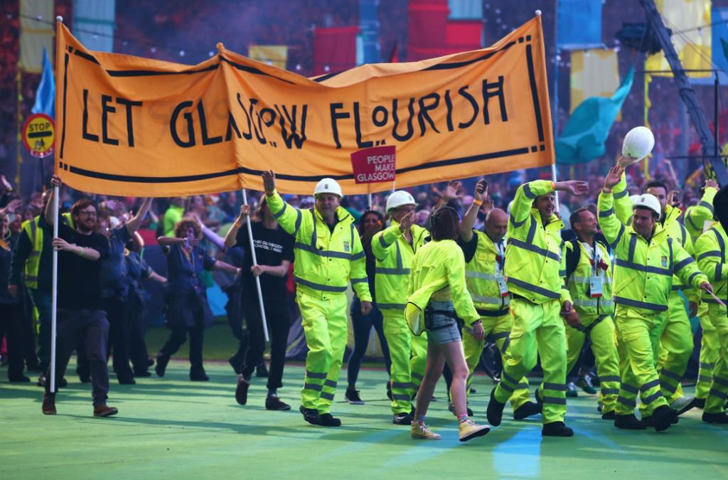 The closing ceremony paid tribute to Glasgow city workers who got the venues ready for the Games.