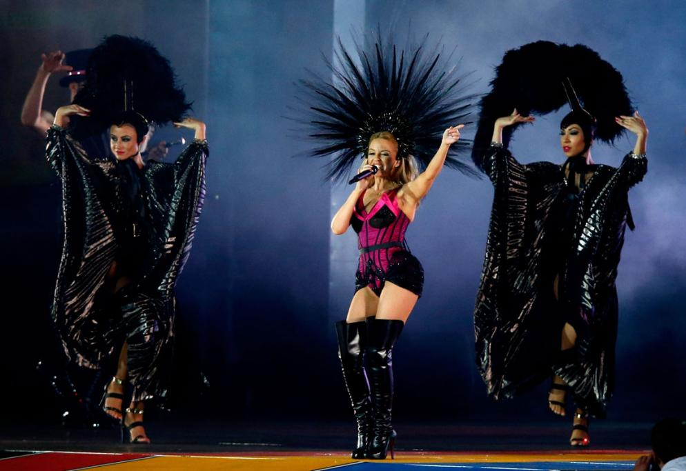 It wouldn't be a showcase of what to expect when the Games hit Australia without a performance from the one-and-only Kylie Minogue.