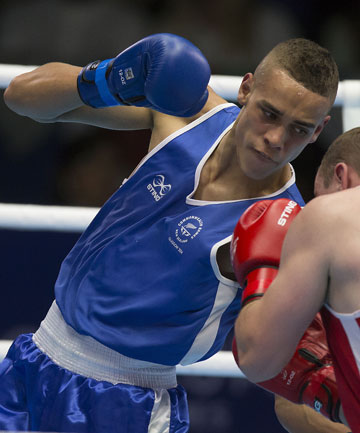 GOLDEN PROSPECTS:  Kiwi fighter David Nyika has pro boxing promoters interested after his gold medal in the light heavyweight division at the Glasgow Commonwealth Games.