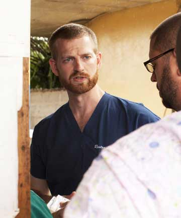 Kent Brantly, one of two Americans who contracted Ebola, is seen working at an Ebola isolation ward at a mission hospital outside of Monrovia.